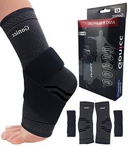 gonicc Professional Foot Sleeve Pair with Compression Wrap S