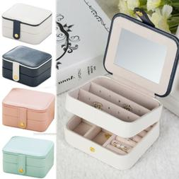 Gift Jewelry Box Travel Portable Storage Case for Earring Ne