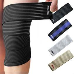 Gym Weight Lifting Wrist Knee Wraps Bandage Brace Straps Gua