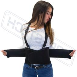 Heavy Duty Lift Lumbar Lower Back Waist Support Belt Brace S