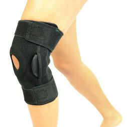 Vive Hinged Knee Brace - Adjustable Open Patella Support for