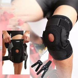 Hinged Knee Brace Adjustable Open Patella Support Swollen AC