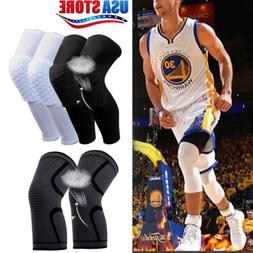 Honeycomb Pad Knee Support Braces Elastic Nylon Sport Compre