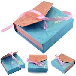 Jewellery Gift Paper Boxes Bow Necklace Ring Earring Bracele
