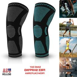 Knee Sleeve Compression Brace Support Sport Joint Pain Arthr