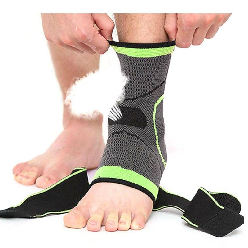 WorthWhile 1 <font><b>Ankle</b></font> Sleeves Support 3D Elastic Bandage Gear Gym