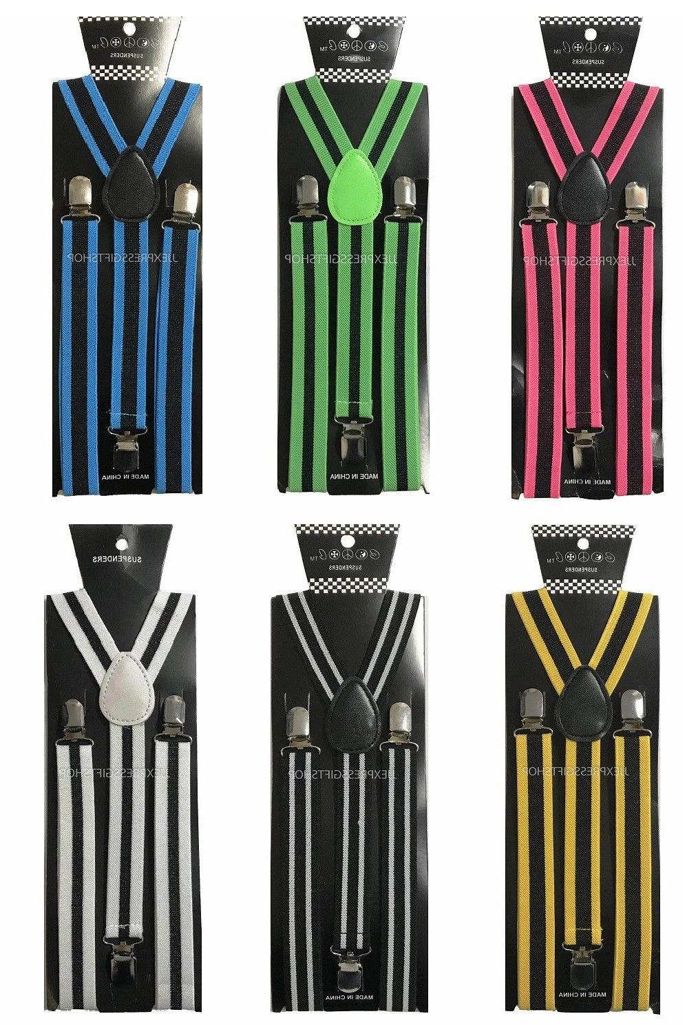 100+ Colors Clip-on Suspenders Y-Shape