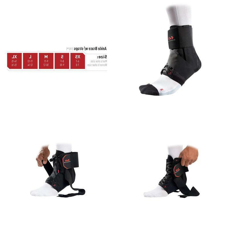 195 deluxe ankle brace with strap black