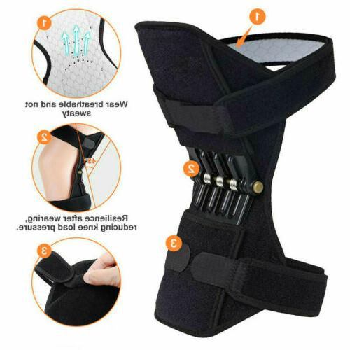 2Pcs Knee Pads Lift Squat Sport Spring Force G
