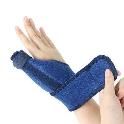 Adjustable Thumb Support Wrap Protector Pain Relief Wrist Br