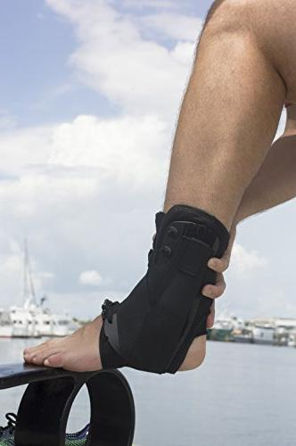 Brace Lace Support w/ Side Stabilizers & Velcro Straps