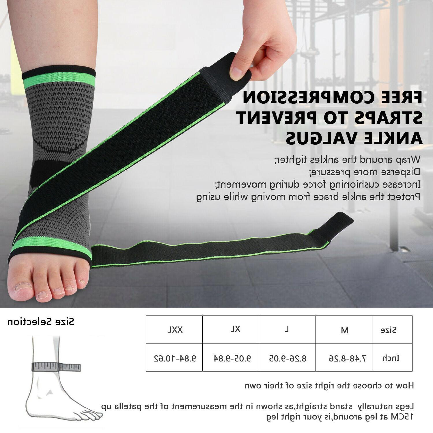 2 Support Compression Sock Plantar Pain Wrap