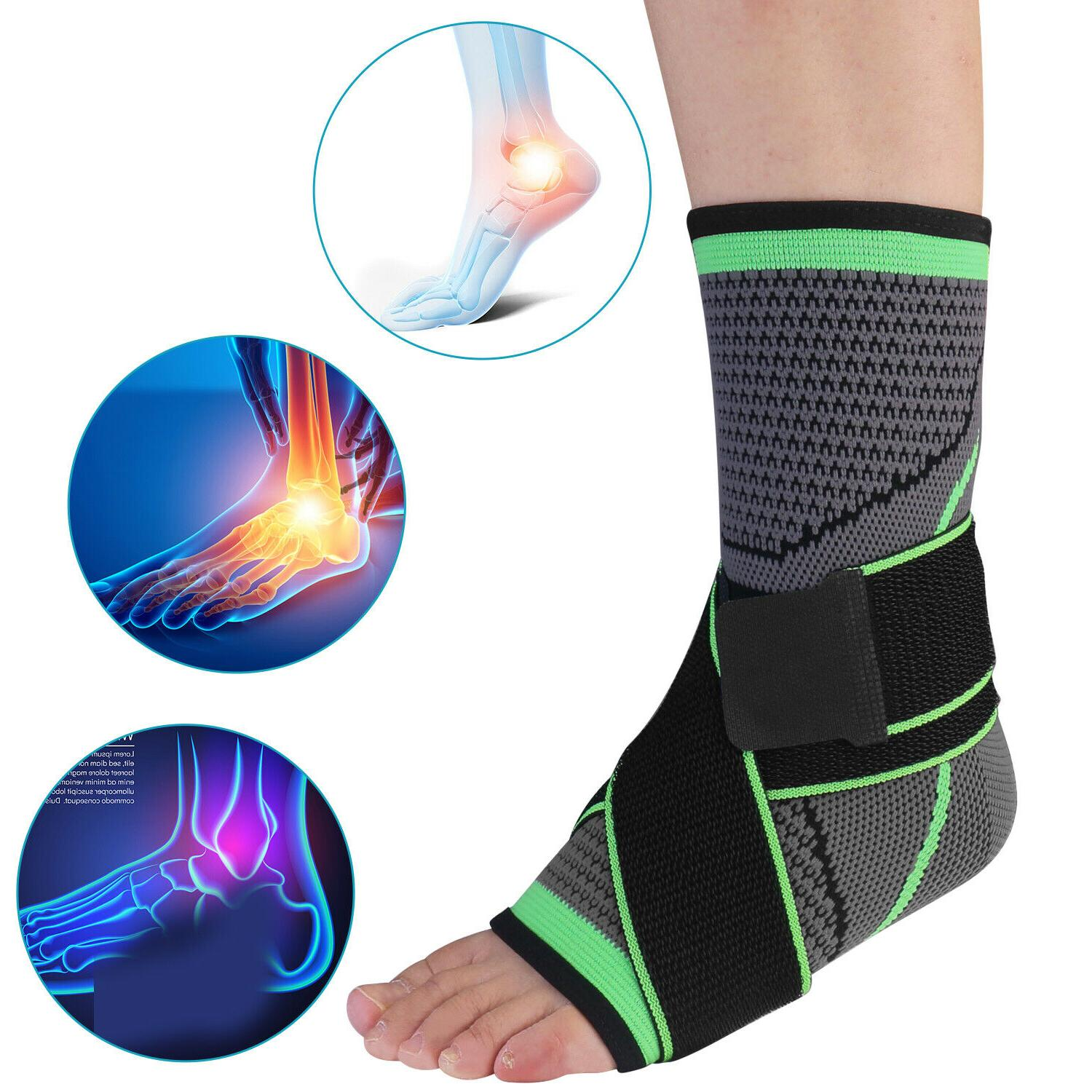 2 Support Compression Sock Plantar Relief Wrap