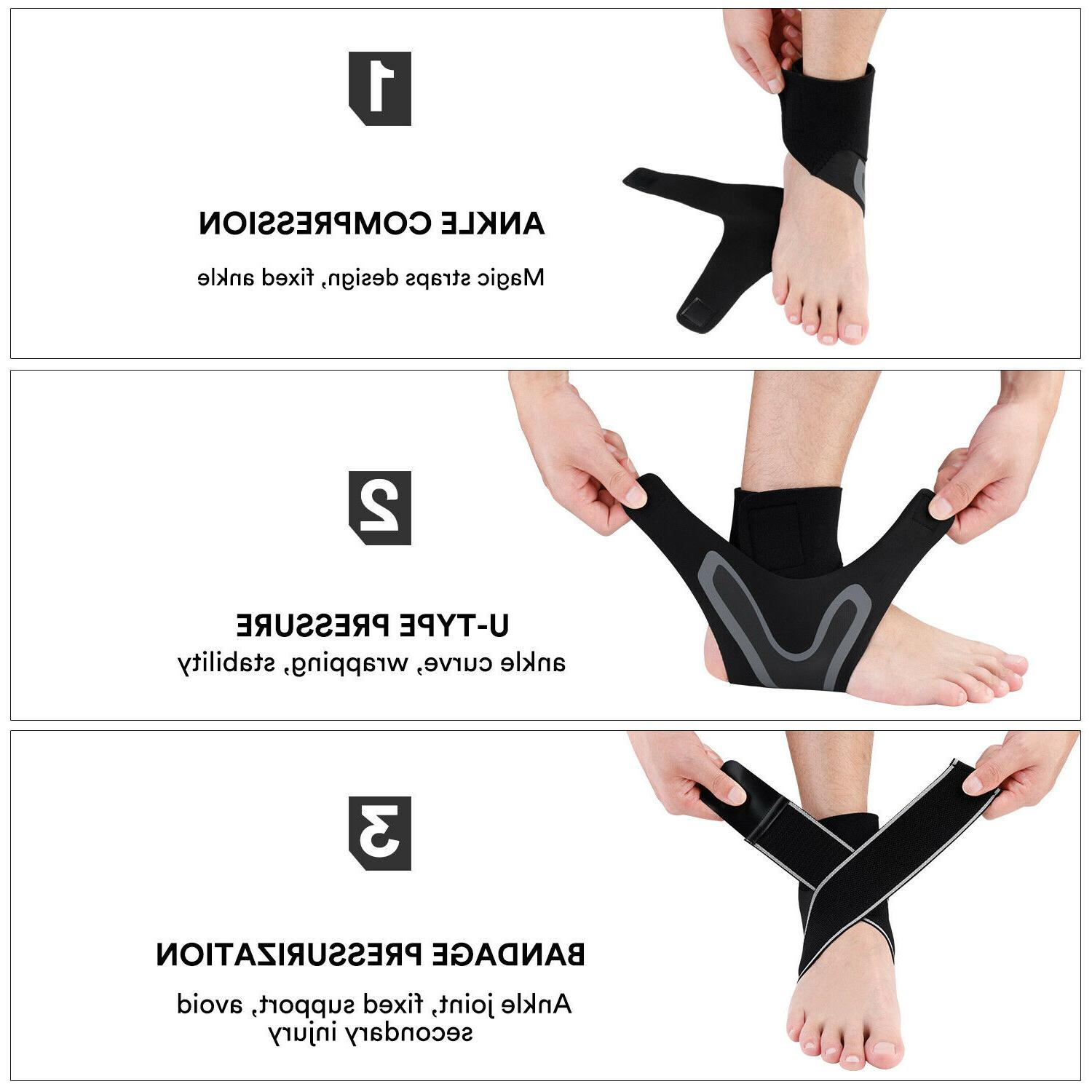 Ankle Brace Support Plantar Fasciitis Pain Foot Wrap