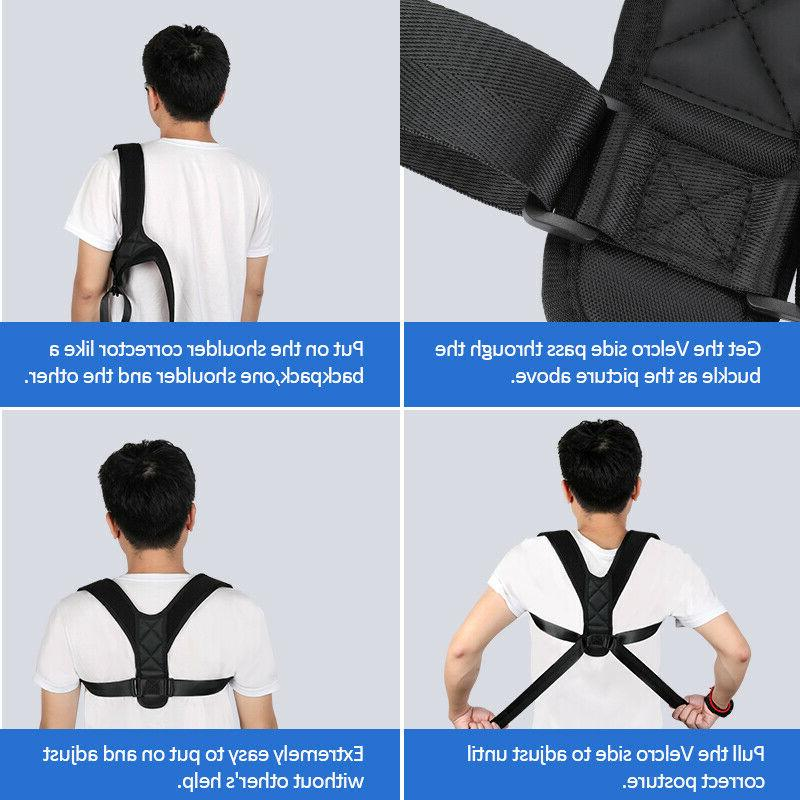 Back Posture Men Kids Adjustable Shoulder Belt