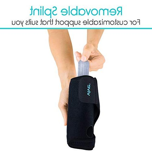 Vive Brace Carpal Tunnel Hand Compression Support Wrap Women, Injuries Removable Ergonomic One Left Hand