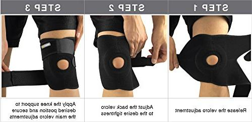 Bracoo Knee Pain Recovery with Adjustable Strapping Breathable Neoprene,