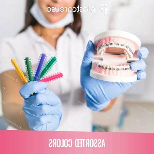 Colored Ortho Ligature Rubber Ties Bands Orthodontic