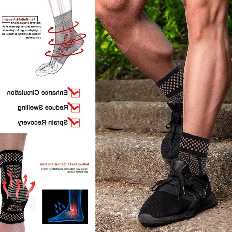 Copper Ankle Support Compression Relief
