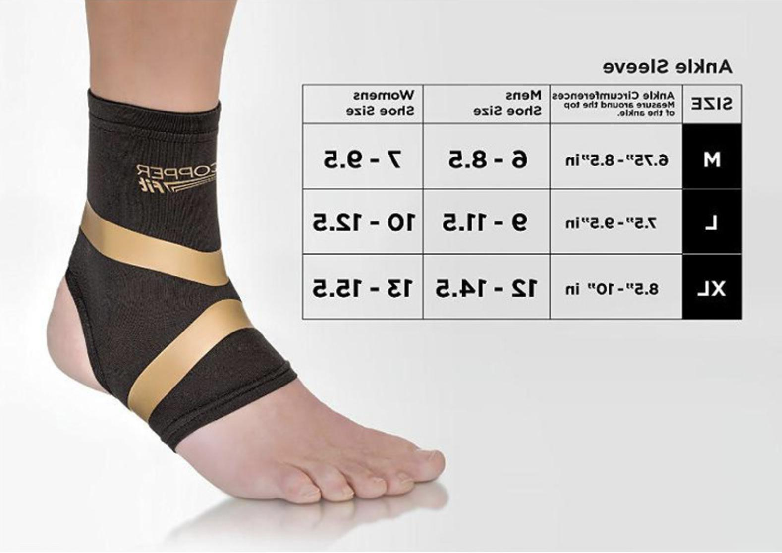 copper fit pro compression ankle support arthritis