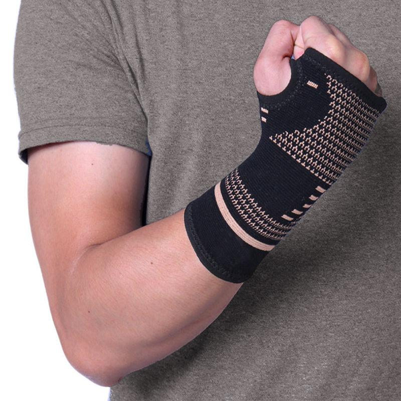 Copper Wrist Support Gloves Splint RSI US