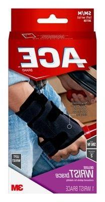 ACE Deluxe Wrist Brace 207739, L/XL, Left