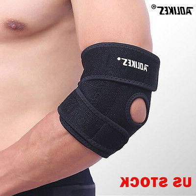 elbow brace support arm band pads wraparound