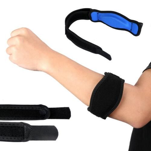 Tennis Elbow Brace Strap Tendonitis Golfers Gel Band Golf Pa