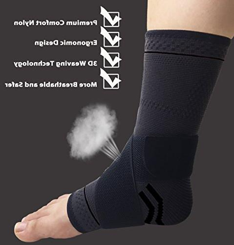 gonicc Professional Pair Support, Breathable, Prevent Boots Soothe Feet, Ankle Brace