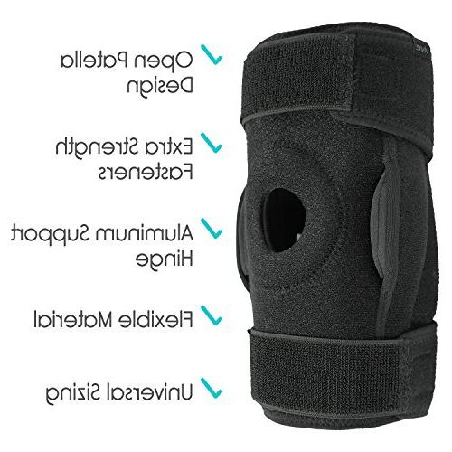 Vive Knee Brace - Adjustable Support Swollen Tendon, Ligament Meniscus Injuries - for and Joint Problems