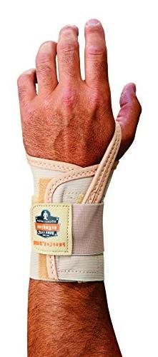 Ergodyne ProFlex 4000 Single Strap Wrist Support, Tan - Medi