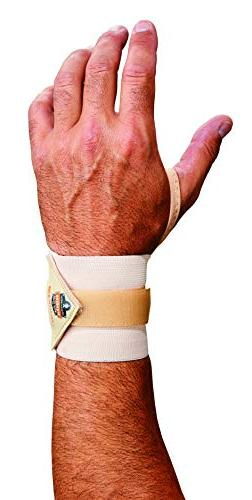 Ergodyne ProFlex 420 Wrist Wrap with Thumb Loop, Tan, Small/