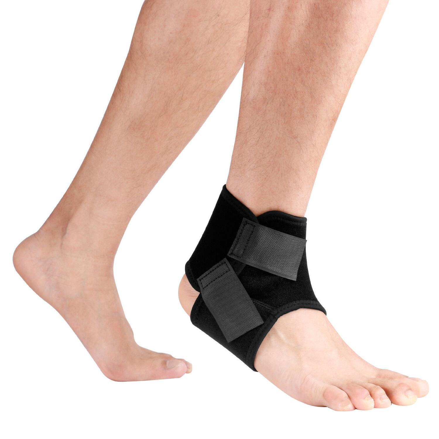 right left ankle foot brace support stabilizer