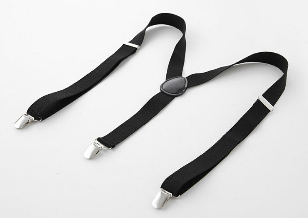 Suspenders Y-Shape Back Clip-on Elastic Adjustable Trousers NEW