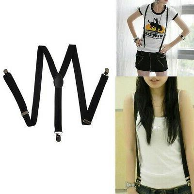 Unisex Elastic Y-Shape Mens Womens Suspenders US