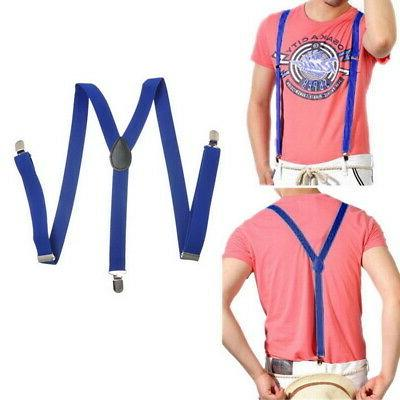 Unisex Elastic Y-Shape Mens Adjustable Suspenders US