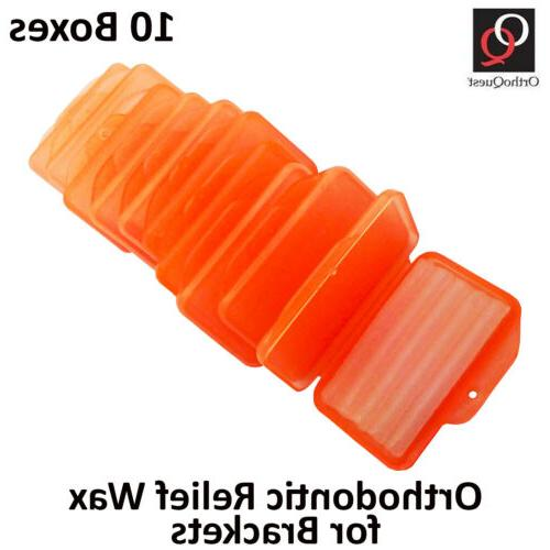 wax for braces brackets orthodontic dental flavored