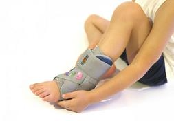 Laced Ankle Joint Support Brace For Children With Side Suppo