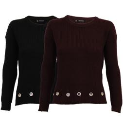 ladies womens cable knitted jumpers pullover sweater by Brav