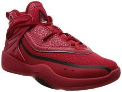AND1 Men's M-2 Basketball Shoe, Red/Black/Silver, 11 M US