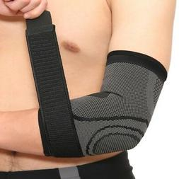 Men Compression Arm Sleeve Elbow Brace Support Arthritis Pro