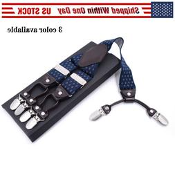 Men's Adjustable Perry Belt Hook Y-Back Elastic Suspenders H
