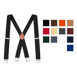 Buyless Fashion Men's Suspenders Heavy Duty X-Back Work El