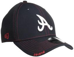 MLB Atlanta Braves Neo Fitted Baseball Cap, Small/Medium, Na