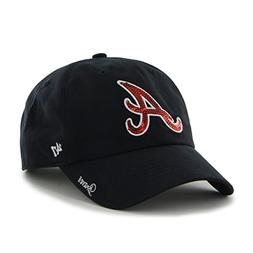 MLB Atlanta Braves Women'S Sparkle Team Color Clean Up Adjus
