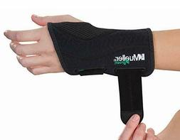 Mueller Green Fitted Wrist Brace, Black, Right Hand, Small/M