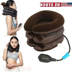 Neck Massager Brace Support Cervical Collar Air Traction The