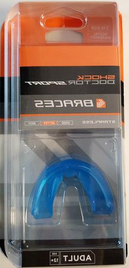 New Shock Doctor Braces Mouthguard Strapless Blue Fit Adult
