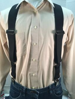 "New, Men's, Black, XXL, 2"", Adj. Side Clip Suspenders / Brac"