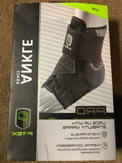 NEW Ptex Pro Lace up Ankle Brace Thermal Compression Large
